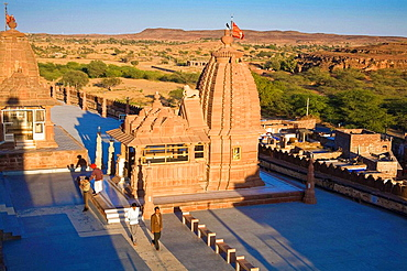 A temple within the Sachiya Mata Temple complex, Osian, near Jodhpur, Rajasthan, India