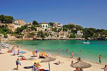 Panoramic view of Porto Cristo in Mallorca