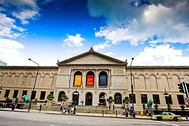 Art Institue of Chicago Museum, Chicago Illinois, IL, Wide Angel View, Color