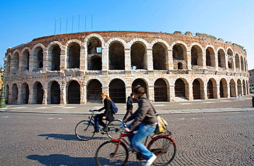 Amphitheater in the love city, Verona, Italy