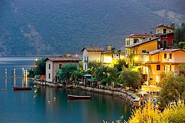 View of Sensole, Iseo lake, Lombardia, Italy.