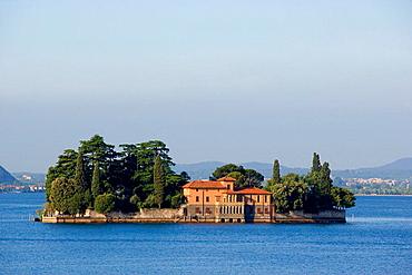 The Isola (island) di San Paolo, Iseo lake, Lombardia, Italy.