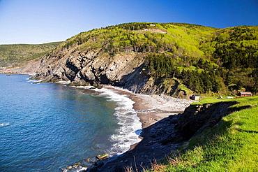 Cliffs near Meat Cove village, near Ingonish, northern-most part of Cape Breton, Nova Scotia, Maritimes, Canada, 2008