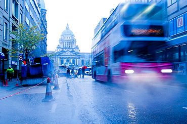 Donegall street and City Hall, Belfast, Northern Ireland