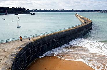 Mole des Noires, Saint-Malo, Ille-et-Vilaine, Bretagne, France