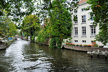 Canal and typical architecture of the Medieval town of Bruges, Belgium  Brugge