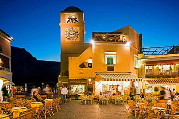 The famous Piazzetta, Piazza (Square) Umberto I, Capri, Italy.