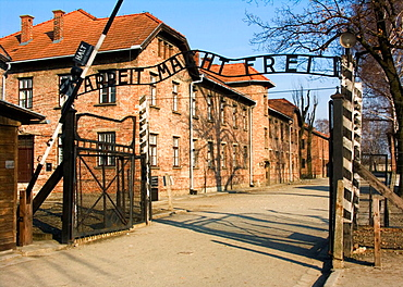 Nazi Concentration Camp in Auschwitz Poland