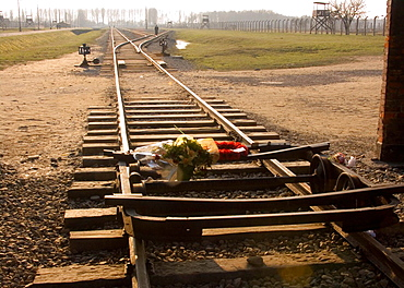 Nazi Concentration Camp in Auschwitz-Binkenau Poland