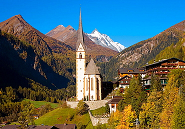 Heiligenblut village in high Alps Austria
