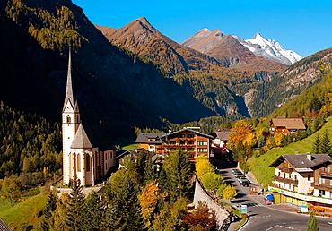 Heiligenblut resort in high Alps Austria