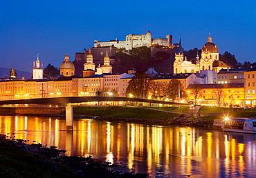 Salzburg at night Austria