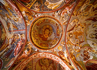 Frescoes at the Sandals Church in the Open Air Museum of Goreme, Cappadocia, Turkey