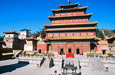 Puning Si (Temple of Universal Tranquility), Chengde, Hebei province, China