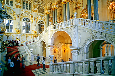 Hermitage Museum, Grand Staircase, St, Petersburg, Russia.