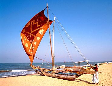 Native sailing boat, Negombo, Sri Lanka