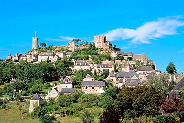 Turenne village and castle, Limousin, France