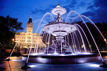 Canada, Quebec, Quebec City, Assemblee Nationale, Parliament, Tourny Fountain