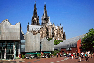 Germany, Rhineland-Westphalia, Koln, Cologne, Roman-Germanic Museum, Cathedral