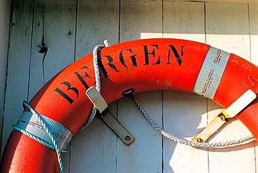 Lifebelt detail, Bergen, Norway