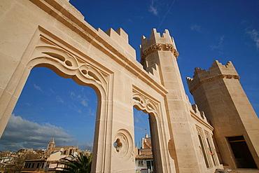 Sagrat Cor from the terrace of the Market, The Llotja, XV Century, Palma Mallorca Balearic Islands Spain