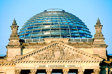Glass dome of the Reichstag, Berlin, Germany