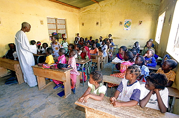 Elementary class in Saly, Petite Cote, Senegal