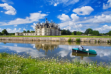Chambord castle in Loire Valley listed as World Heritage by UNESCO France