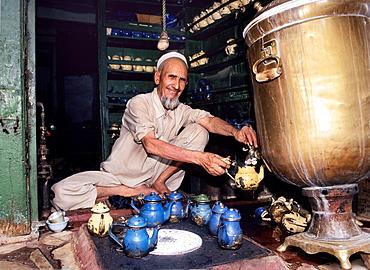 Pakistan, Peshawar, The Bazar, Tea Shop