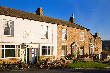Cafe on The Green at Reeth North Yorkshire England