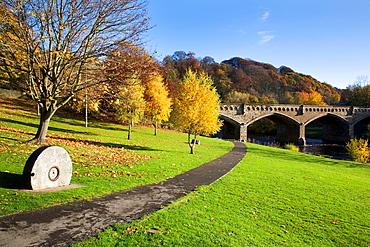 Station Bridge from The Batts Richmond North Yorkshire England