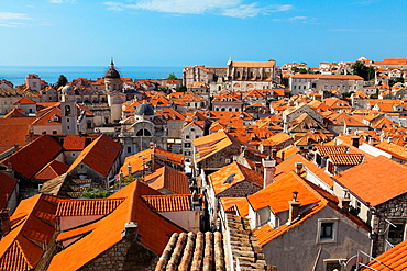 A view of Dubrovnik old town from walls Croatia