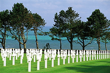Military american cementery in Calvados, Normandy, France