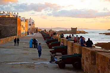 Skala du Port ramparts medina the old town Essaouira central Morocco northern Africa