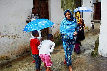 Tanzania, Zanzibar island, Unguja, Stone Town, unesco world heritage, raining day