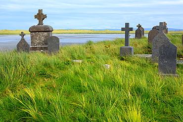Killeany cemetery, Inishmore island, Aran islands, Galway county, Ireland