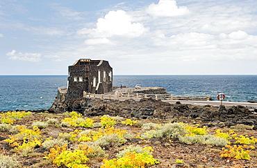 Las Puntas, El Hierro, Canary Islands The old boat quay 4 bedroom Hotel Punta Grande at El Golfo Worlds smallest hotel