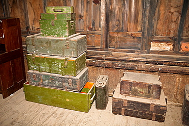 Ammunition boxes, Transportation Museum of China, Burma, India Theater in World War II, Yunnanyi, Yunnan Province, China