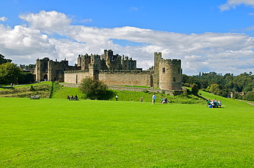 Alnwick Castle where part of the Harry Potter films were done, Alnwick, Northumberland, England, UK