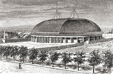 A Mormon Tabernacle, Salt Lake City, Utah, America in the 19th century From El Mundo en la Mano published 1875