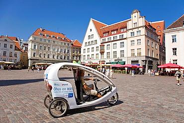 Velotaxi, Town Hall Square, Tallinn, Estonia, Europe