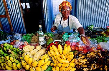 Basse-Terre market, Guadaloupe, French Antilles.