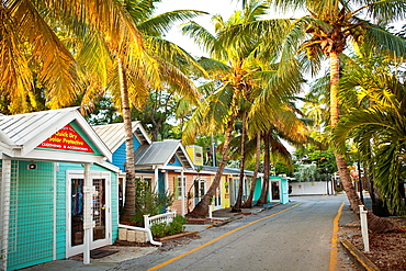Key West style shopping district in Key West, Florida