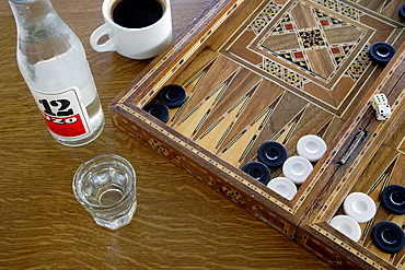 Iconic Greece Tavli, Ouzo and Strong Greek Coffee