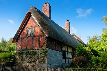 Anne Hathaways cottage home, wife of William Shakespeare, in Stratford upon Avon Warwickshire UK