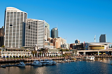 Darling Harbour with Imax cinema in the background, Sydney, Australia