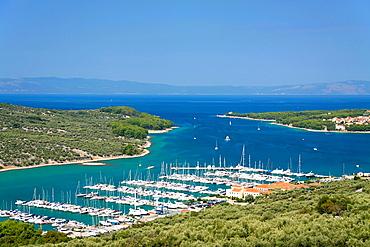 Cres town on Cres Island, Croatia