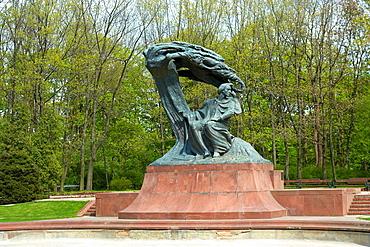 Monument to Frederic Chopin in Royal Baths Park Lazienki Krolewskie in Warsaw, Poland