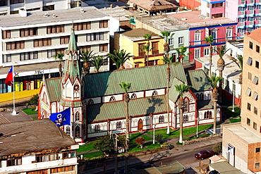 San Marcos Church designed by Gustav Eiffel in Arica, Chile