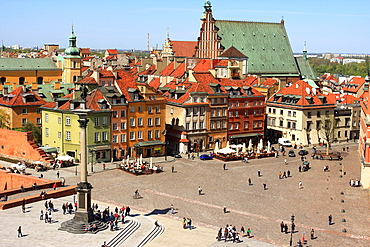 Old Market Square in Old Town of Warsaw, Poland